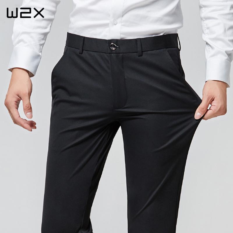 男黑裤子修身商务