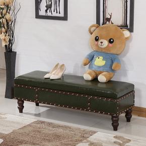 服装店换鞋凳实木试衣间储物凳更衣室长条凳子沙发凳皮箱凳床尾凳