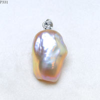 Natural Freshwater Baroque Shaped Pearl Pearl Pendant Necklace Symphony S925 Silver Accessories