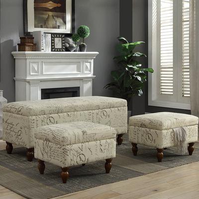 美式沙发客厅脚踏衣帽间凳子 门口换鞋凳 多功能收纳椅子储物凳