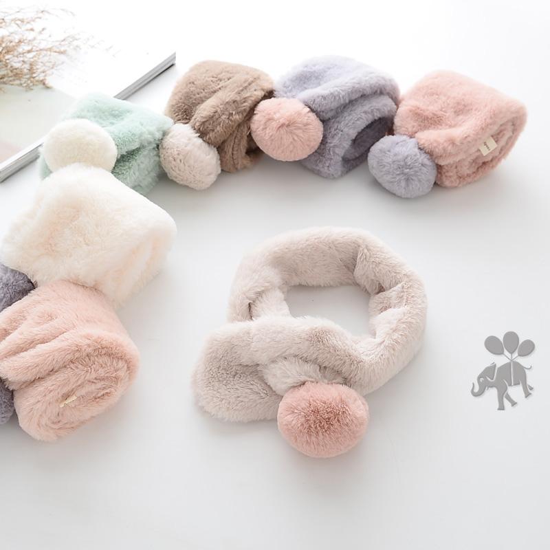 韩国毛绒围巾