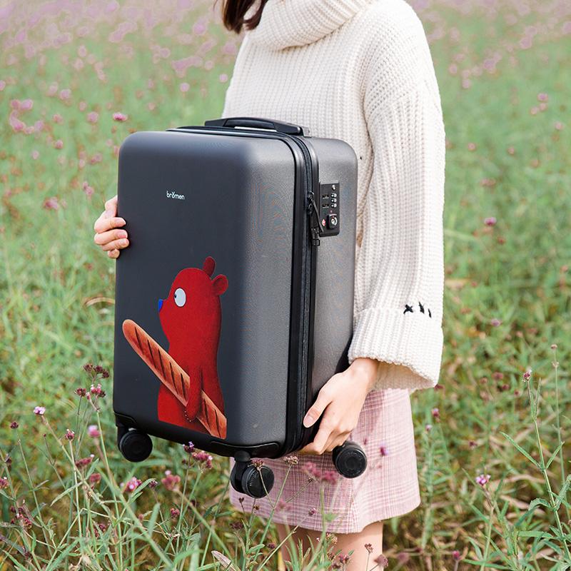 不莱玫X张占占 拉杆箱20寸行李箱女万向轮旅行密码箱24寸大学生潮