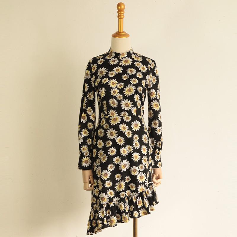 不对称文艺旗袍