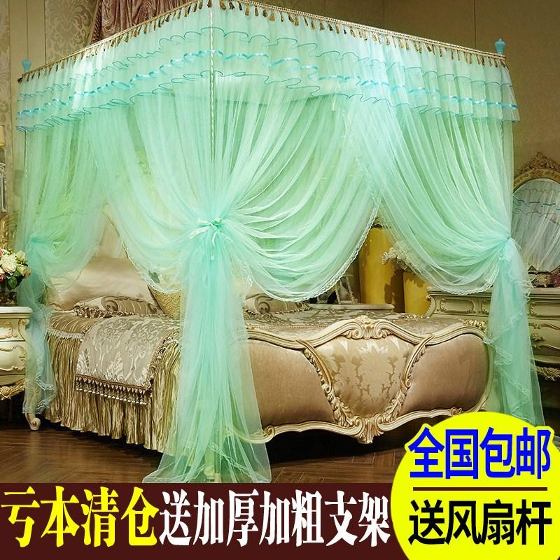 蚊帐三开门1.5米1.8m床公主风落地宫廷方顶2X2.2米床双人家用加密