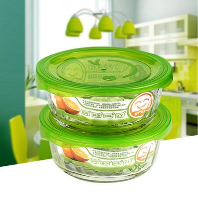 茶花耐高温饭盒玻璃保鲜盒微波炉烤箱专用饭盒保鲜碗便当盒打包碗