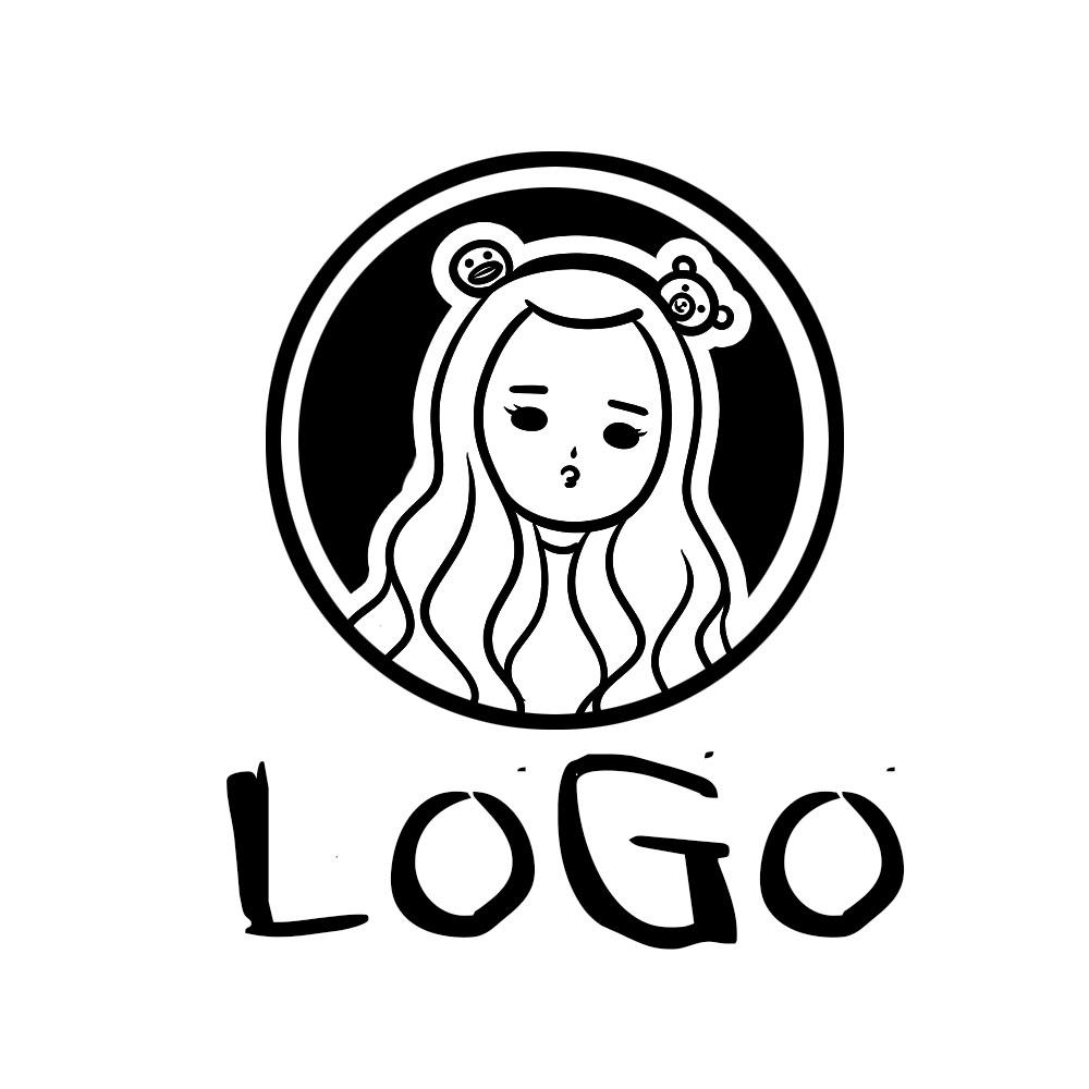 淘宝店标水印logo设计店铺卡通图标微信头像手绘微店来图设计定制图片