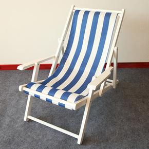 包邮沙滩椅折叠躺椅实木扶手帆布阳台休闲椅户外午睡便携椅逍遥椅