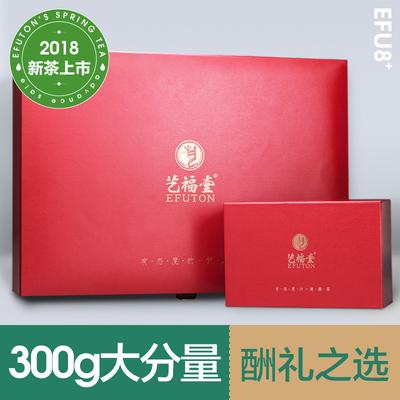 艺福堂茶叶礼盒明前一级狮韵西湖龙井茶2018新茶300g提香红礼盒
