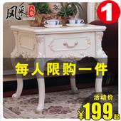 旁边咖啡桌小方桌子 欧式简约木质角几沙发角落小茶几客厅边几时尚图片