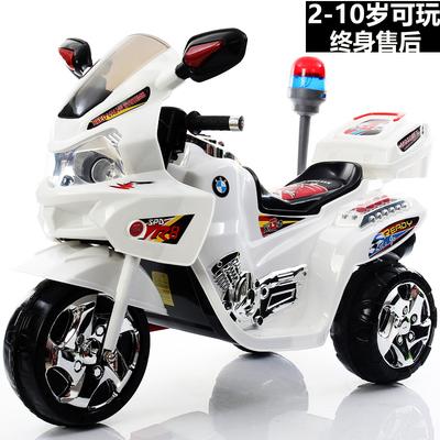 儿童电动摩托车三轮车加大号男女童车电瓶车小孩可坐人玩具车充电