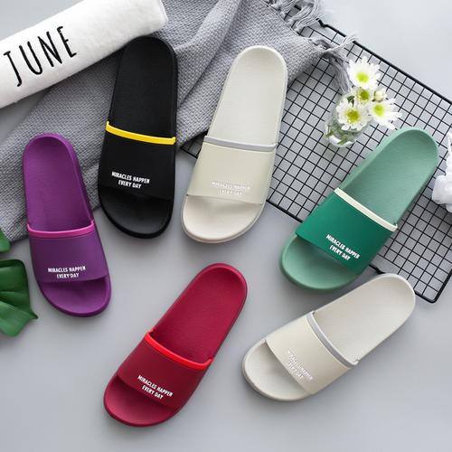川岛屋 日式居家拖鞋糖果色男女夏季浴室防滑情侣地板凉拖鞋TX-19