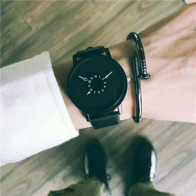 韩国ulzzang个性概念手表男中学生韩版简约休闲复古潮流创意女表双十一