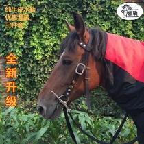 Cheval deau cheval bride pure cuir cheval mâché rênes bouche bouche robinet fine selle cheval équestre