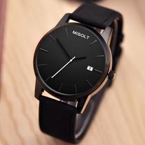 地摊热销款式jhlf学生手表休闲皮带男女手表LOVE双心新款腕表