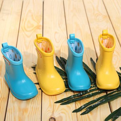 日本儿童雨鞋男童宝宝水鞋女雨靴胶鞋小童幼儿1-3岁春夏套鞋防滑