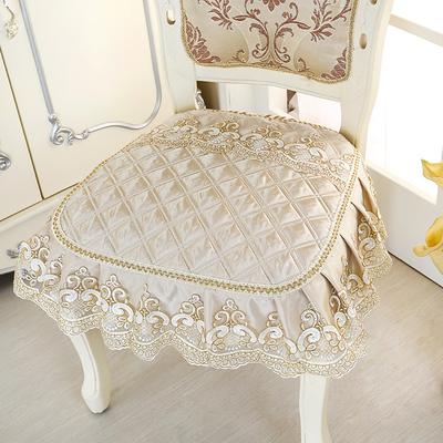 餐桌椅子坐垫四季欧式复古加大款毛绒面简约椅垫坐垫布艺家用防滑