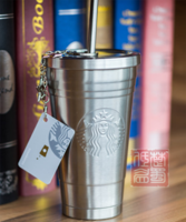Starbucks 16-ounce stainless steel straw embossed logo LOGO accompanying cups star card gift box 2013 anniversary