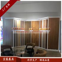 300600瓷砖展架左右平推平移展柜木地板展架瓷砖展柜推拉柜众蚁