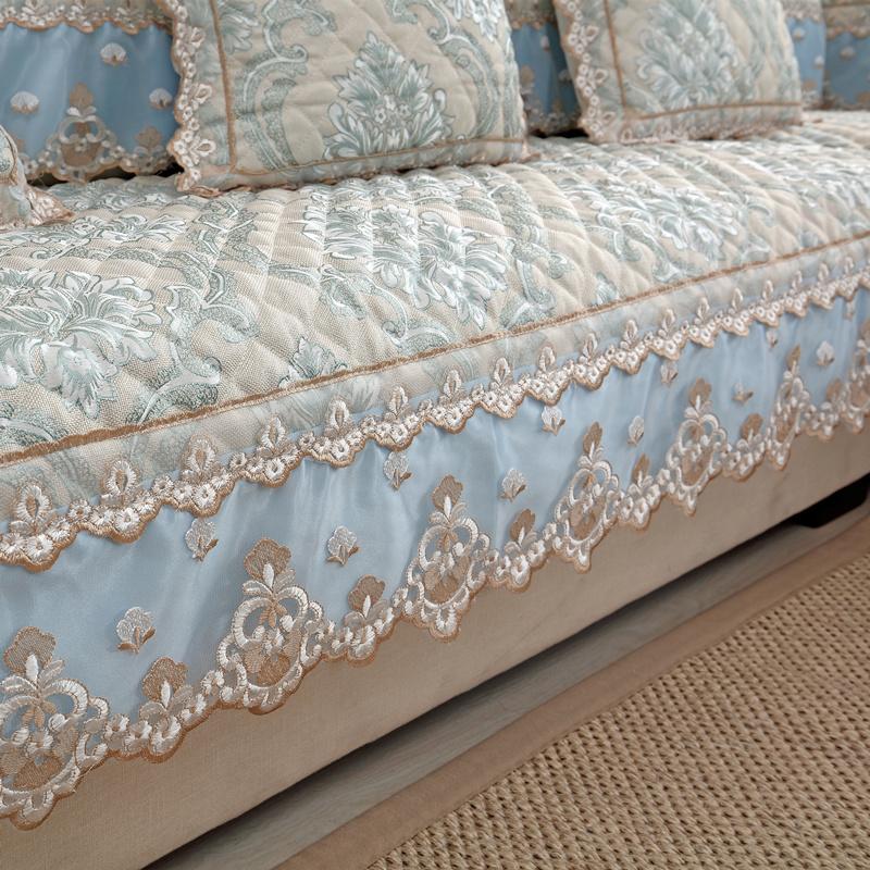 沙发垫亚麻防滑欧式