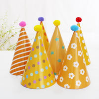 Haha party children's birthday party party supplies birthday hat plush ball party hat