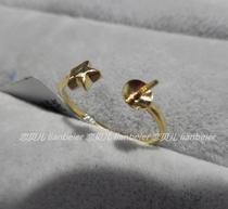 配件专区一定制裸珠空托金珍珠戒指空托14K18K白思漫珠宝