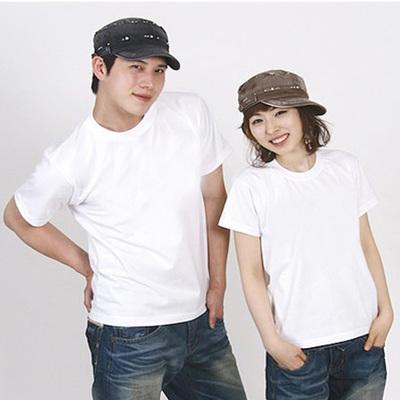 厂家批量发 圆领纯棉空白T恤学生手绘T恤定做广告文化活动衫班服