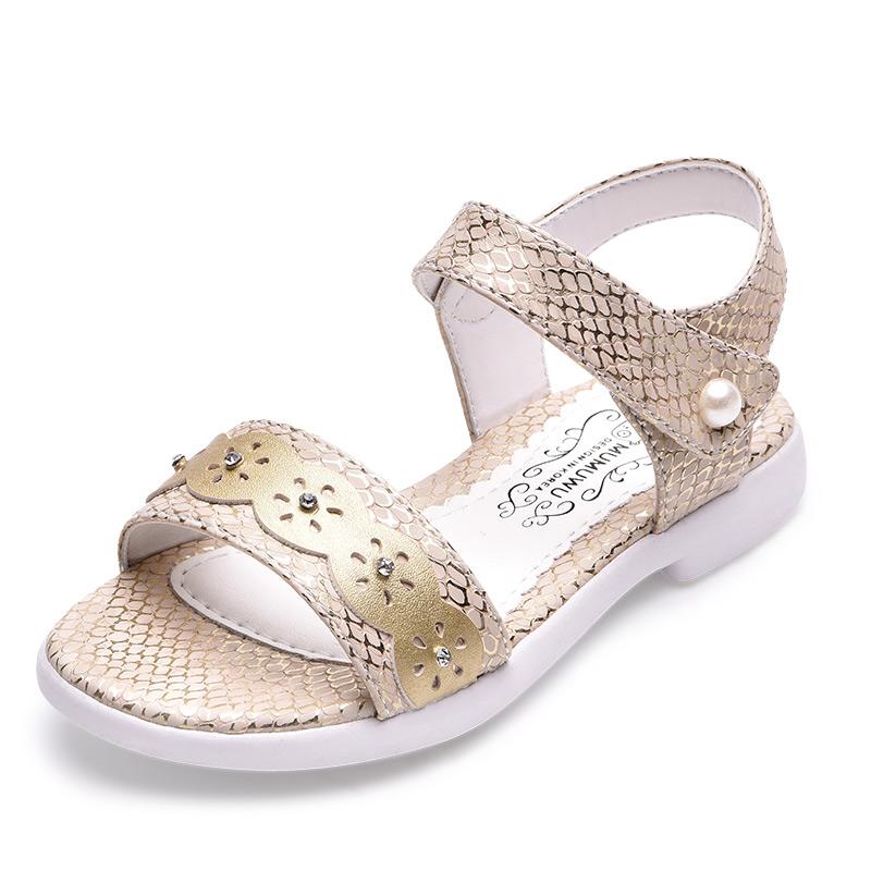 木木屋童鞋2017夏季新款 女童凉鞋学生儿童公主鞋 中大童宝宝凉鞋