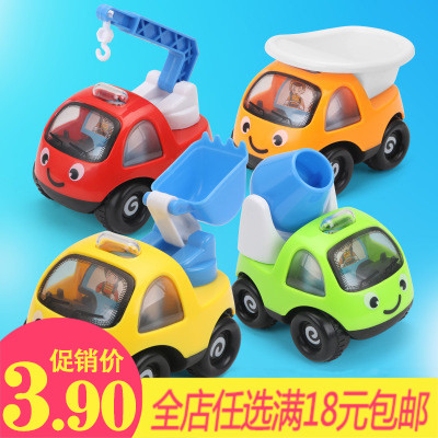 New Friction Car Large Children's Cartoon Puzzle Car Resistance Fall Mini Works