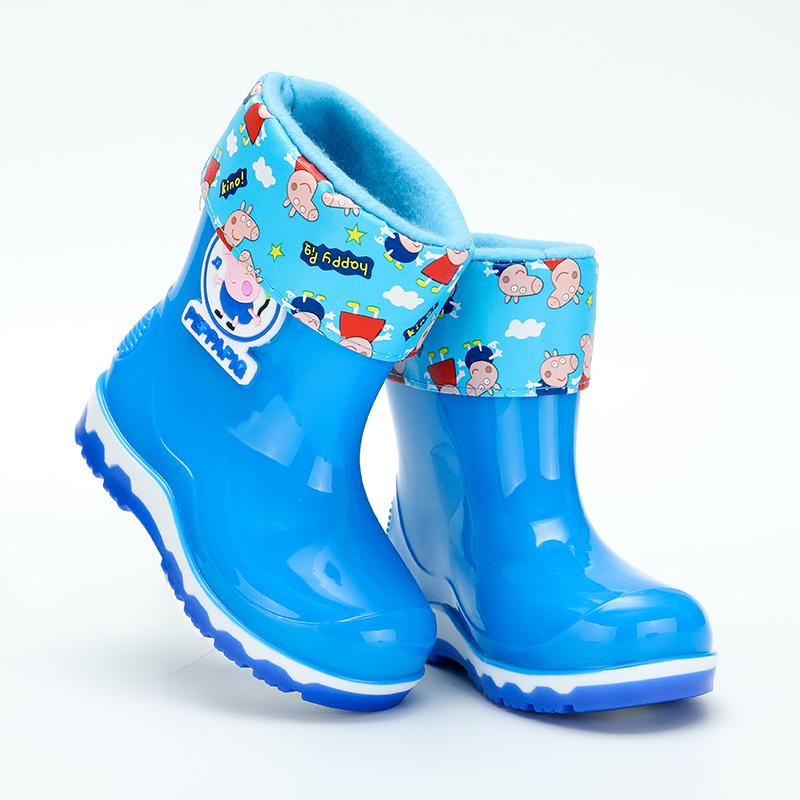 儿童保暖雨鞋男童女童防滑雨靴冬季加绒韩版套鞋胶鞋宝宝小孩水鞋