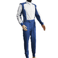 High-end atmosphere grade blue bright surface VOLSON one-piece racing suit team kart car drift suit