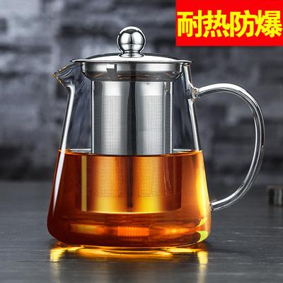 聚千义玻璃茶壶防爆耐高温家用泡茶壶耐热加厚过滤冲茶器功夫茶具