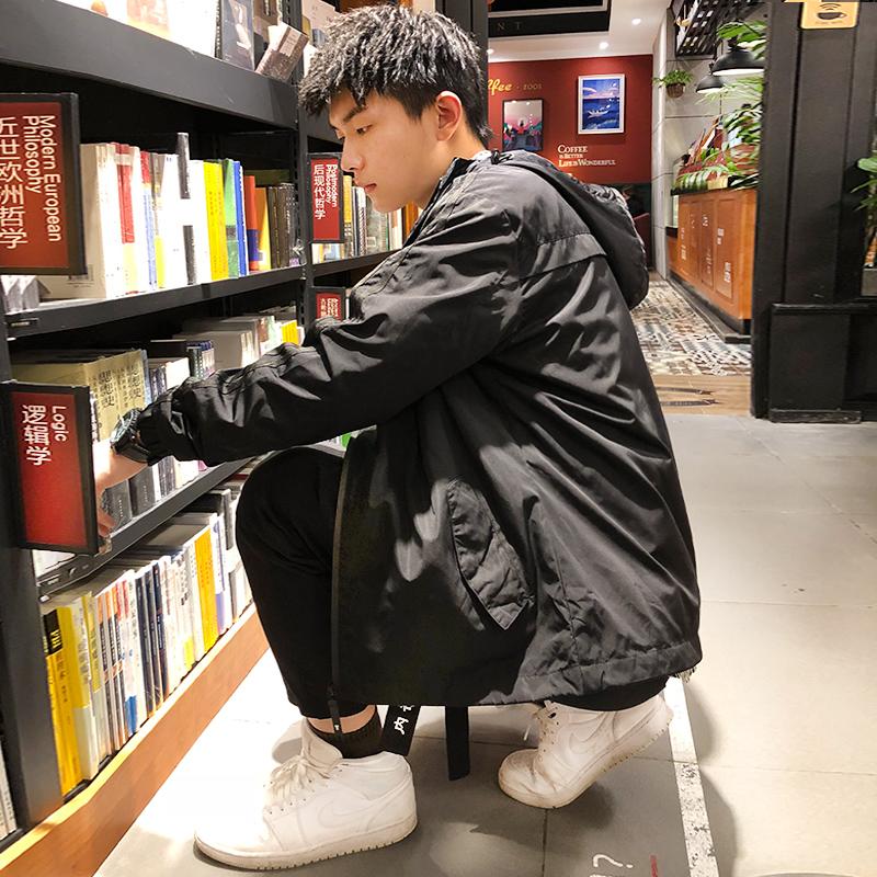 唐狮2018春秋季连帽外套男韩版潮流修身帅气夹克休闲运动男装上衣图片