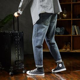 唐狮2019春季新款直筒牛仔裤男宽松潮港风男士牛仔裤韩版潮男裤子图片