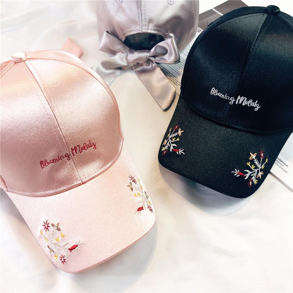 帽子女休闲百搭夏粉色刺绣棒球帽韩版学生街头潮鸭舌帽春夏天遮阳