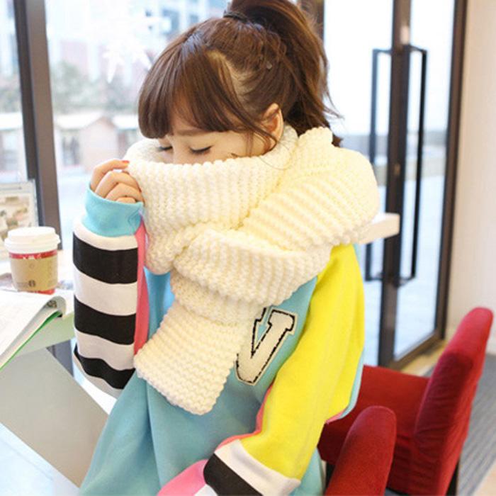 毛线围巾女韩国情侣