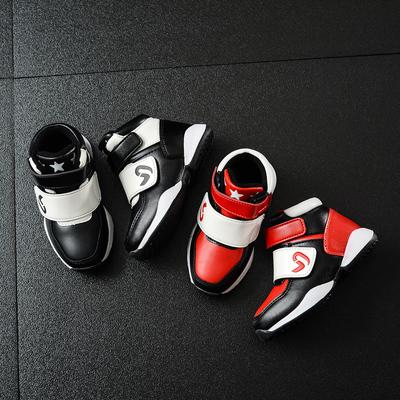 雅格熊儿童运动鞋2017秋冬男童加绒棉鞋女童跑步鞋韩版休闲单鞋