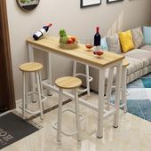 简约现代吧台桌家用简易客厅隔断靠墙小吧台高脚桌子椅子组合特价