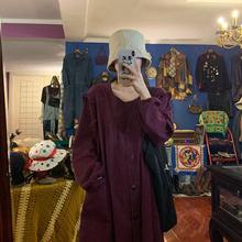 裙子 obliviate随时散发魅力 绛紫色连衣裙女海胆大哥秋季中长款图片