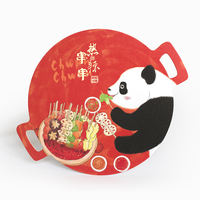 Kobayashi creative hand-painted shaped postcard cartoon Chengdu souvenir giant panda material message card fun bookmark