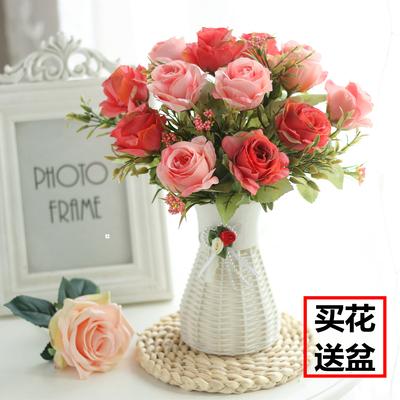 客厅卧室内摆设塑料假花仿真花花束装饰品小盆栽家居餐桌茶几摆件谁买过的说说