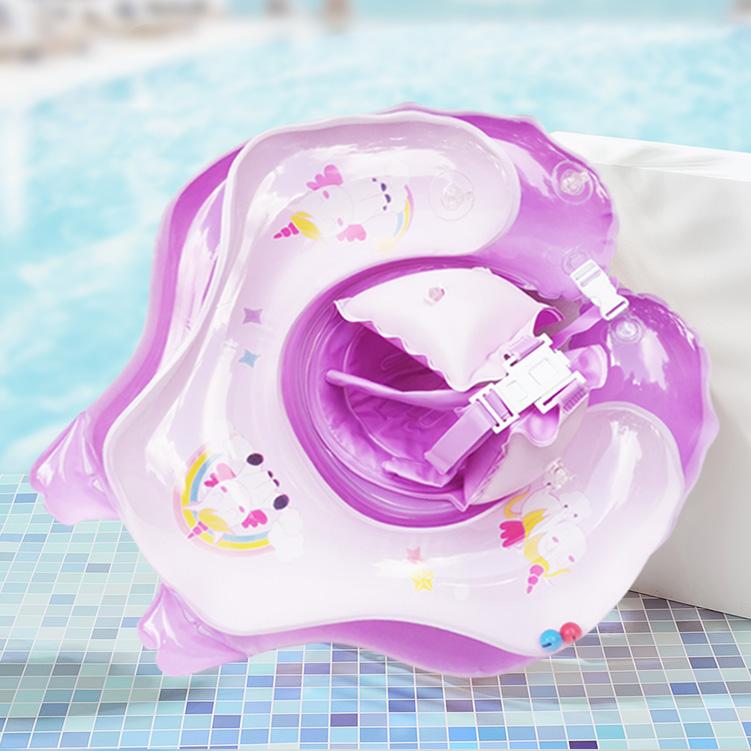 婴儿游泳圈趴圈 新生幼儿脖圈宝宝腋下圈0-1-2-3岁防翻儿童游泳圈