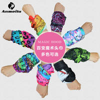Outdoor sports, amazing magic headscarf squares, men and women, multi-function, sunscreen, scarf, bib, seamless riding collar