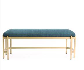 北欧沙发凳休闲椅美式换鞋凳现代简约布艺长凳中式铁艺摩登床尾凳