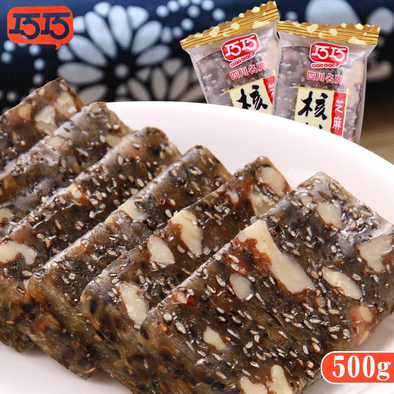 巧巧黑芝麻核桃糕500g四川特产核桃软糖手工软糕传统糕点糖果零食5元优惠券