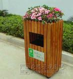 户外防腐木垃圾桶公园分类果皮箱筒实木小区环保垃圾桶景区垃圾箱