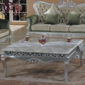 欧式新古典实木家具大理石面茶几咖啡桌大方几沙发套几后现代家具