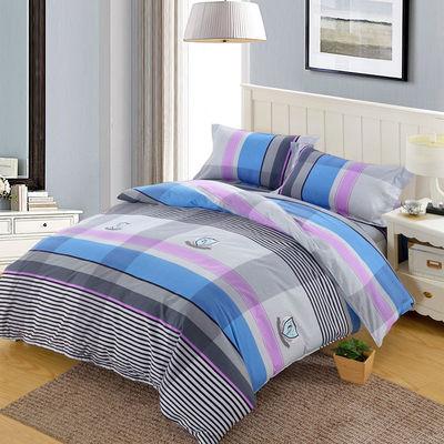 纯棉加厚斜纹双人床四件套澳绒磨毛全棉单人床三件套被套床单枕套