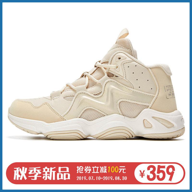 361女篮球鞋运动2019秋季新款361度篮球鞋女高帮女子实战革面球鞋