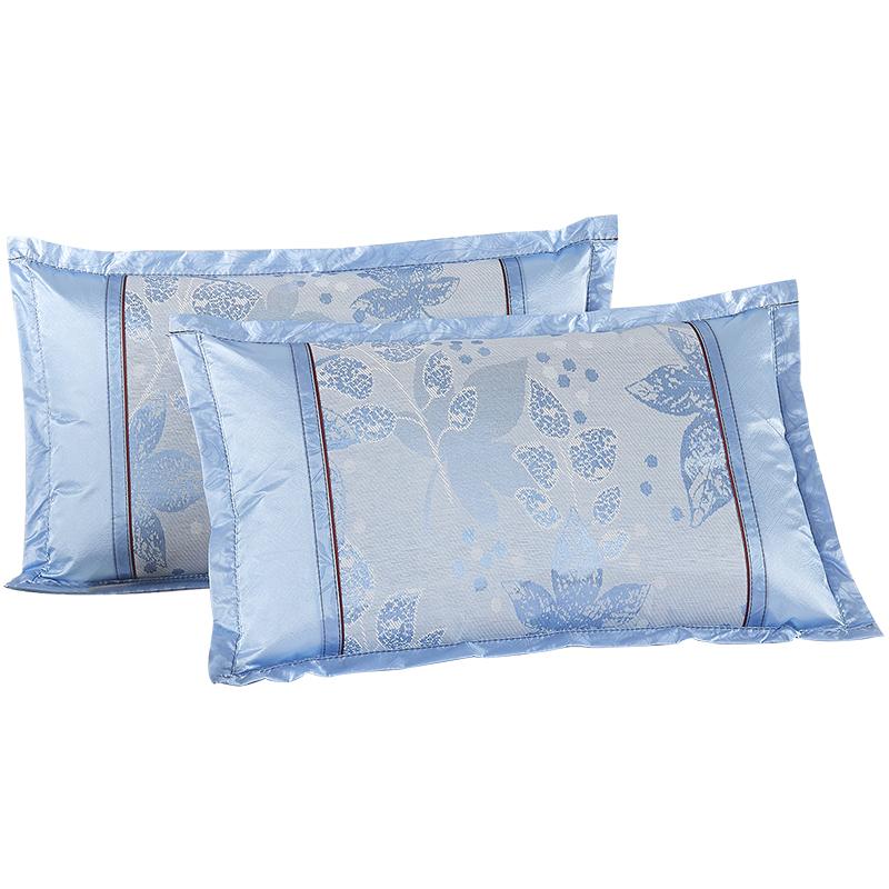枕套夏季凉爽 冰丝枕套夏天凉席枕头套一对装竹席凉枕套 单人枕用