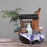创意流水喷泉招财加湿器禅意家居装饰品工艺礼品客厅办公室小摆件